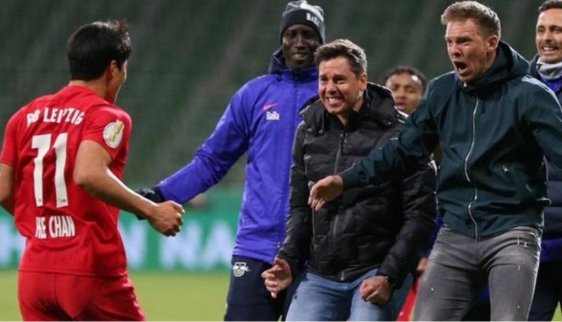 加时赛的进球使RB莱比锡进入德国杯决赛