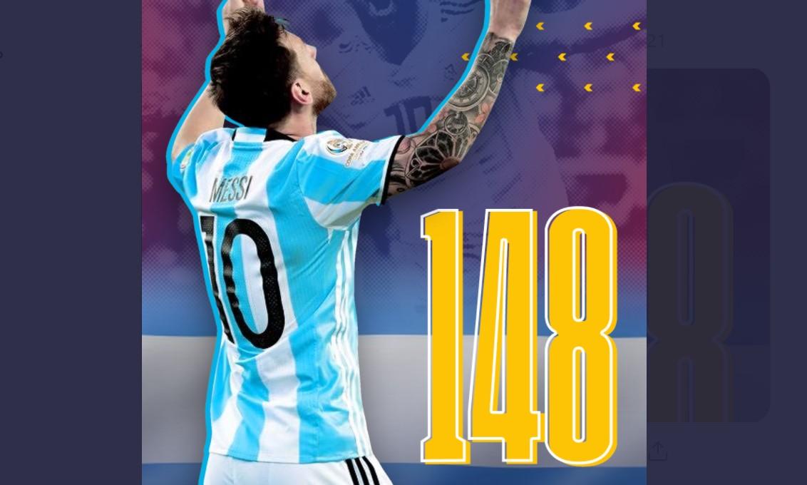 梅西在击败玻利维亚队的比赛中创造了阿根廷队记录