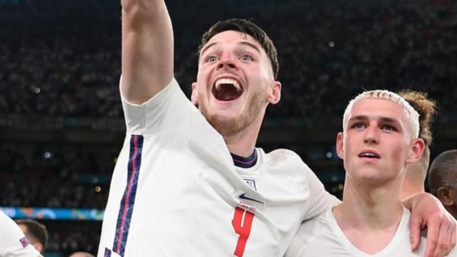 在英格兰进入欧洲决赛的那一刻,德克兰.赖斯得知他得到新侄女