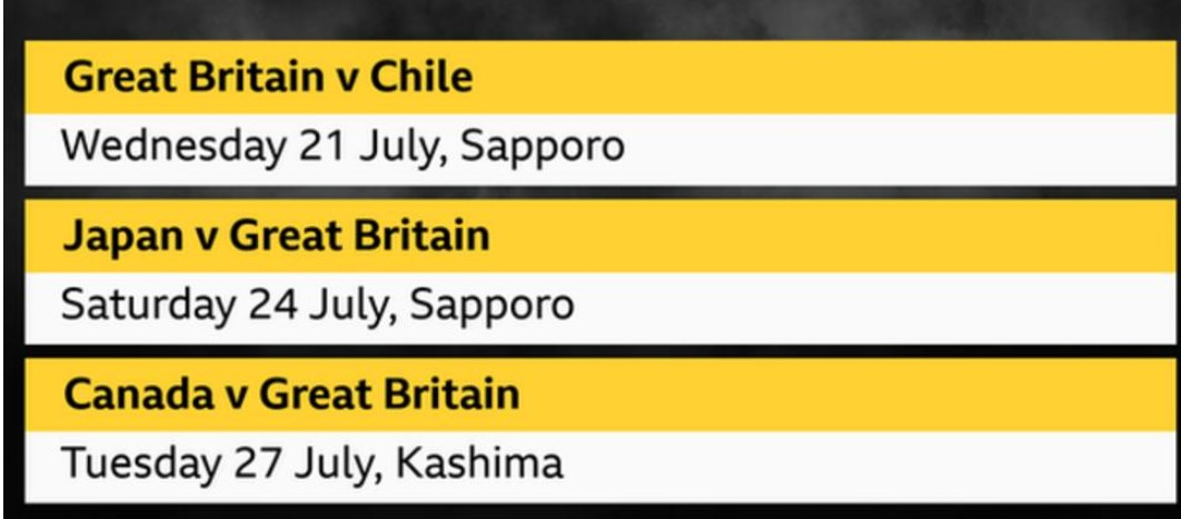 英国奥林匹克足球队将对阵哪一个队伍?