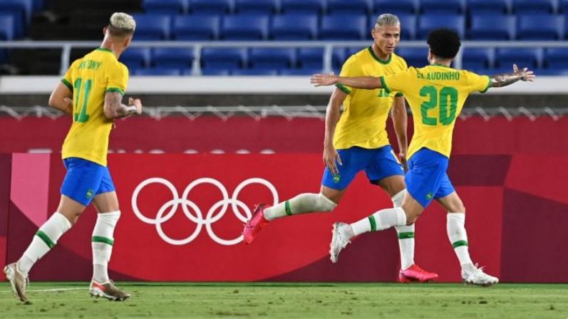 理查尔利森带领巴西队在奥运会首战中获胜