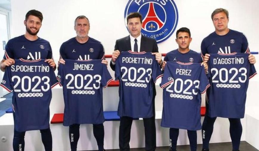 巴黎圣日耳曼主教练毛里西奥·波切蒂诺签署续约合同
