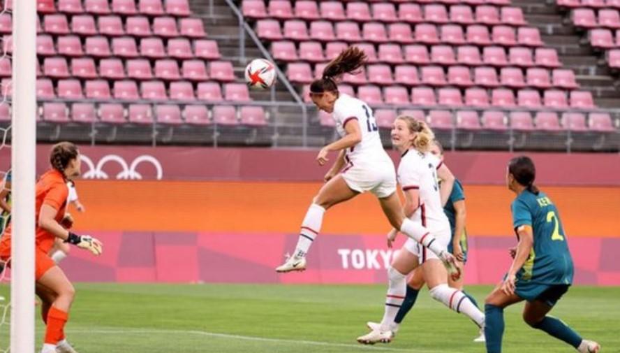女子奥林匹克足球:美国与澳大利亚形成平局