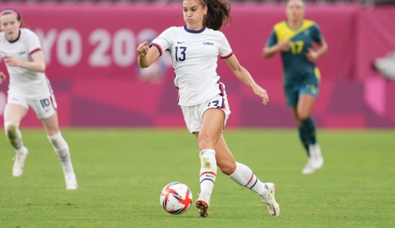 美国队闯入了东京奥运会女子足球锦标赛的半决赛