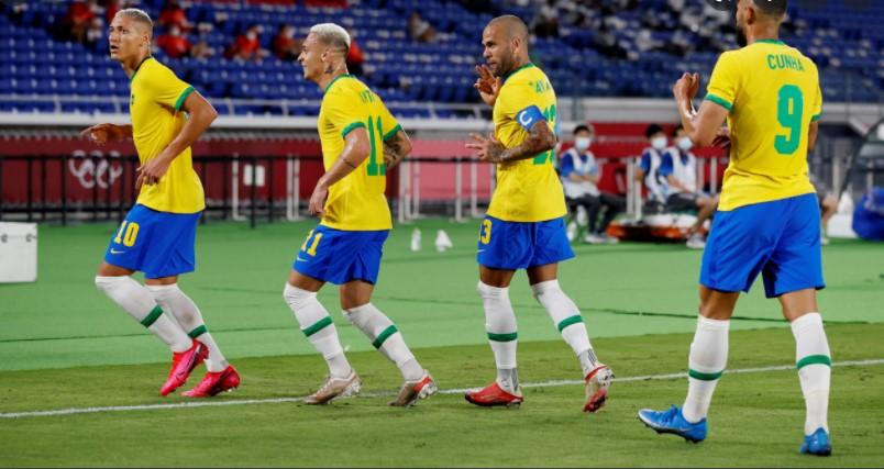男子奥运足球之巴西、日本、墨西哥和西班牙进入半决赛