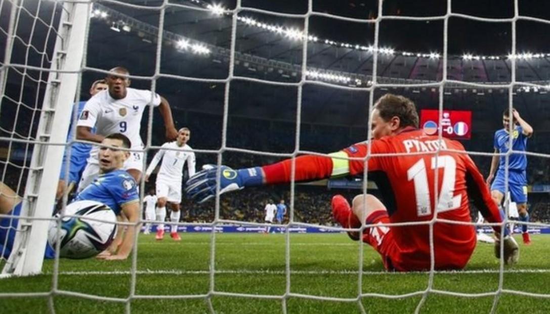 安东尼·马夏尔五年以来的首个进球使法国与乌克兰战平