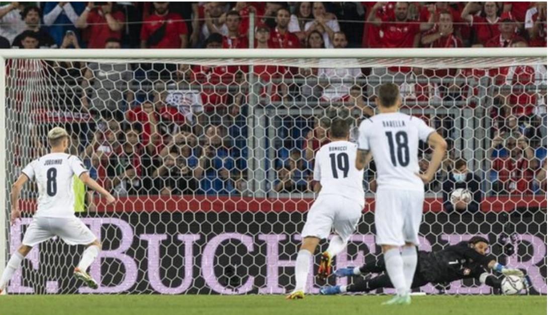 意大利与瑞士战平,追平了36场不败的国际记录