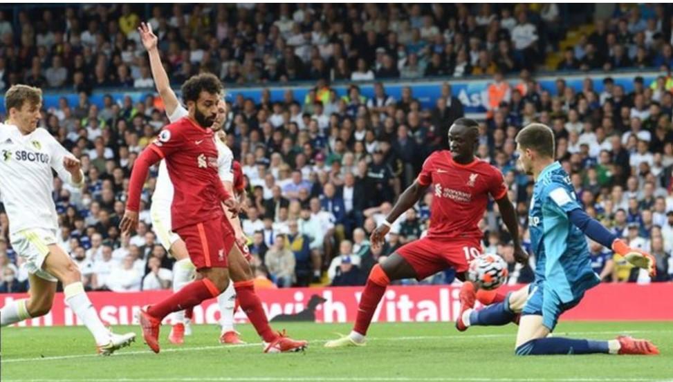 穆罕默德·萨拉赫射进了顶级联赛的第一百个球