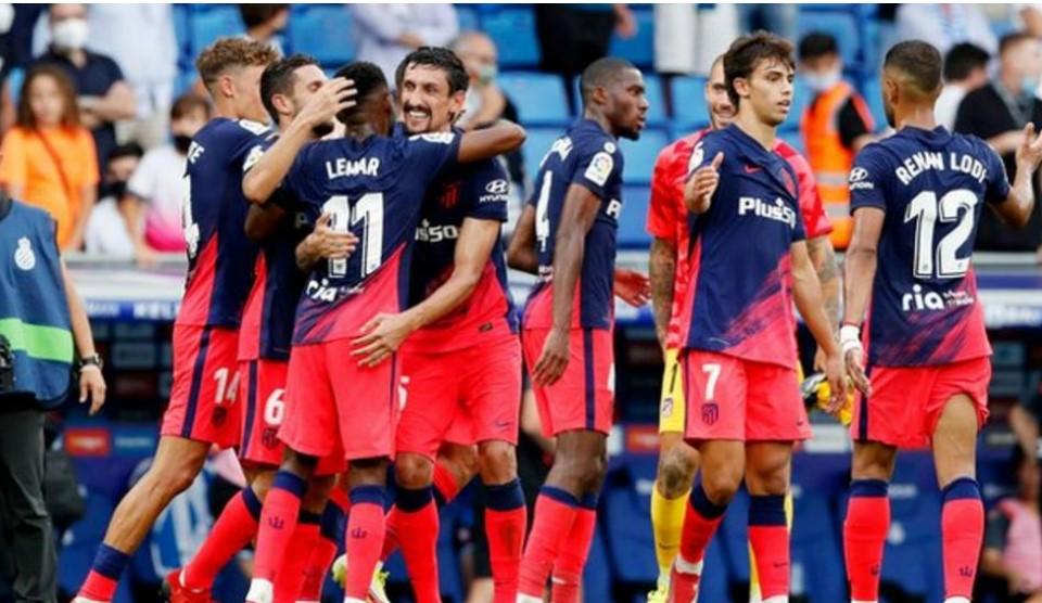 勒马尔的第99分钟进球帮助马德里竞技队险些击败了皇家西班牙人体育俱乐部