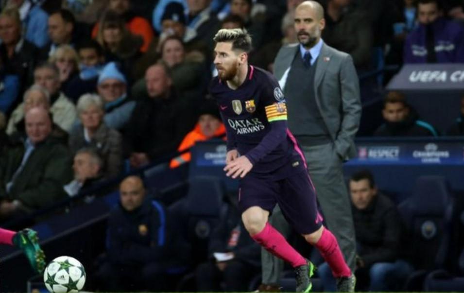 梅西在比赛对阵中一直使瓜迪奥拉困扰