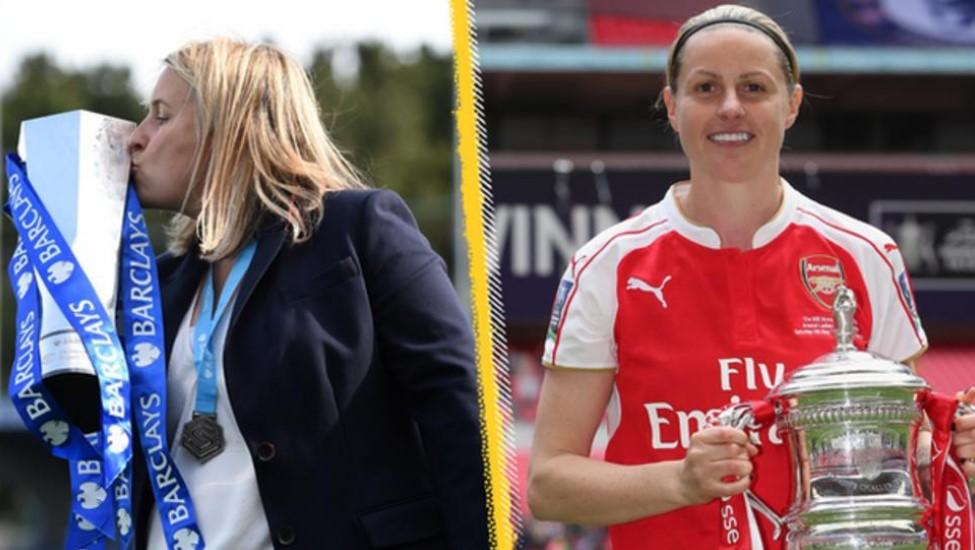 切尔西主帅和前阿森纳和英格兰球星艾玛.海斯和凯莉.史密斯入选 WSL 名人堂
