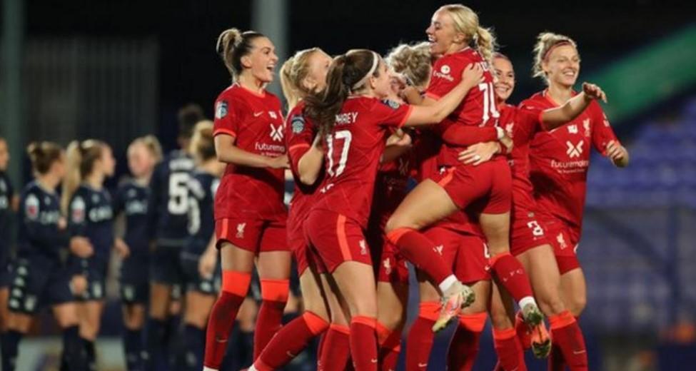 利物浦在英格兰足球总会女子超级联赛杯小组赛揭幕战中击败维拉而曼城则获得五分