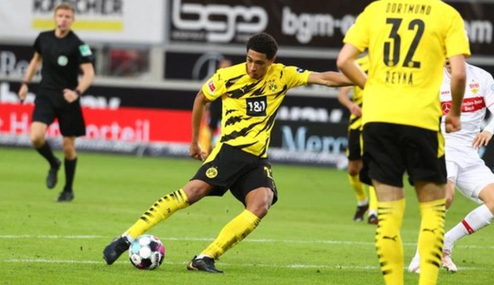 祖德·贝林厄姆攻入了自己的第一个德甲进球