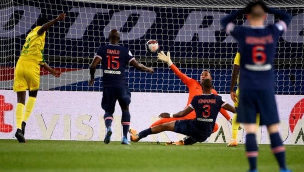 巴黎圣日耳曼队经历了九年以来首次在王子公园比赛的失利