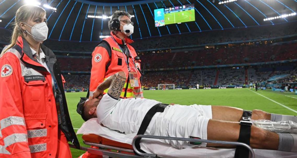 意大利的斯皮纳佐拉跟腱受伤