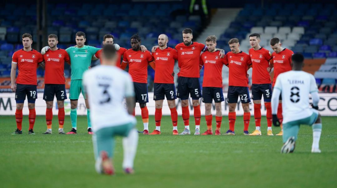 卢顿确认球员不会在比赛前因恐惧姿态被歪曲为政治声明而下跪