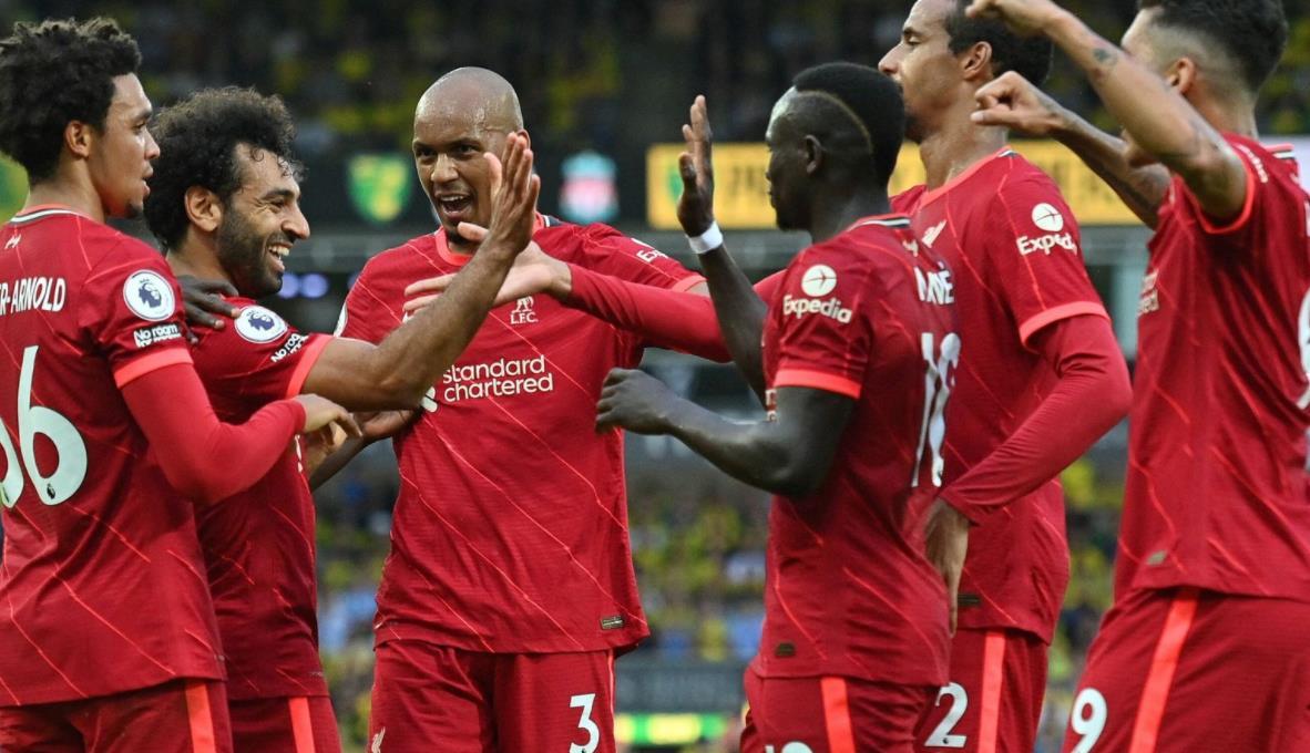 萨拉赫在诺维奇城的大胜是利物浦的表现尽善尽美