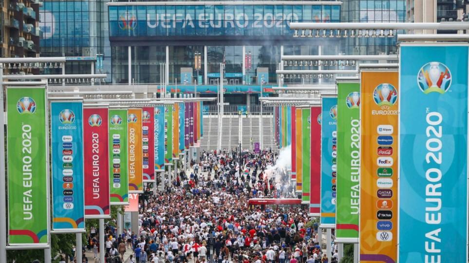 2020 年欧洲杯:欧洲足球联合会联盟就温布利决赛中的球迷行为对英足总提起纪律处分程序