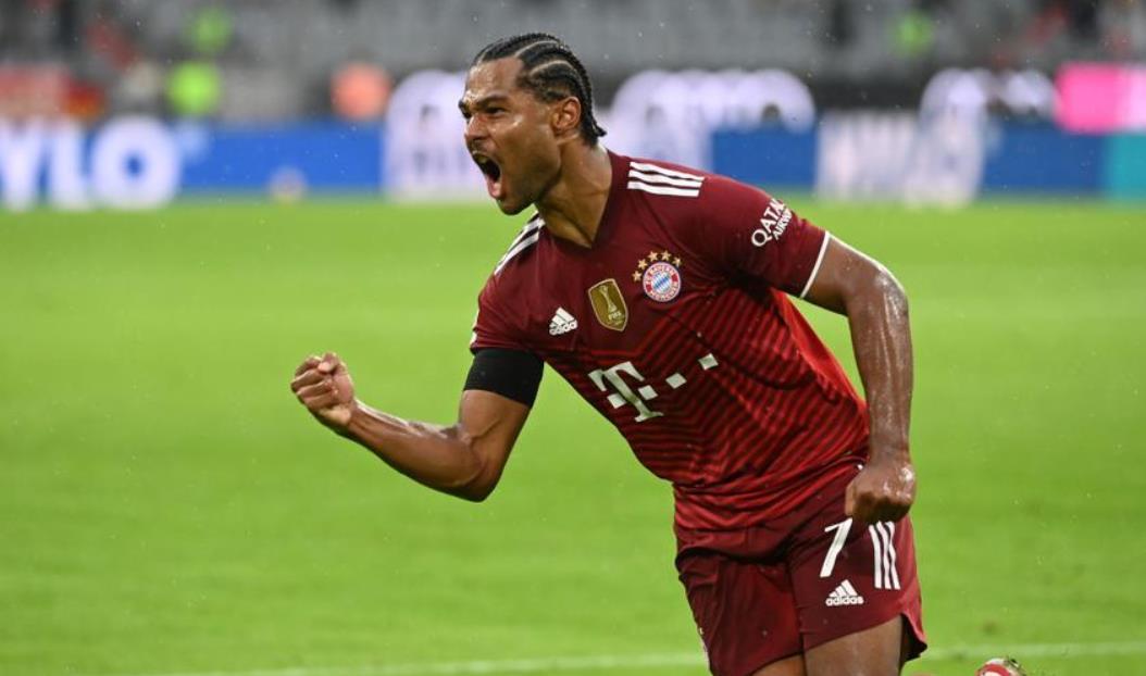 """当""""狂野""""拜仁击败科隆时,格纳布里得分两次"""