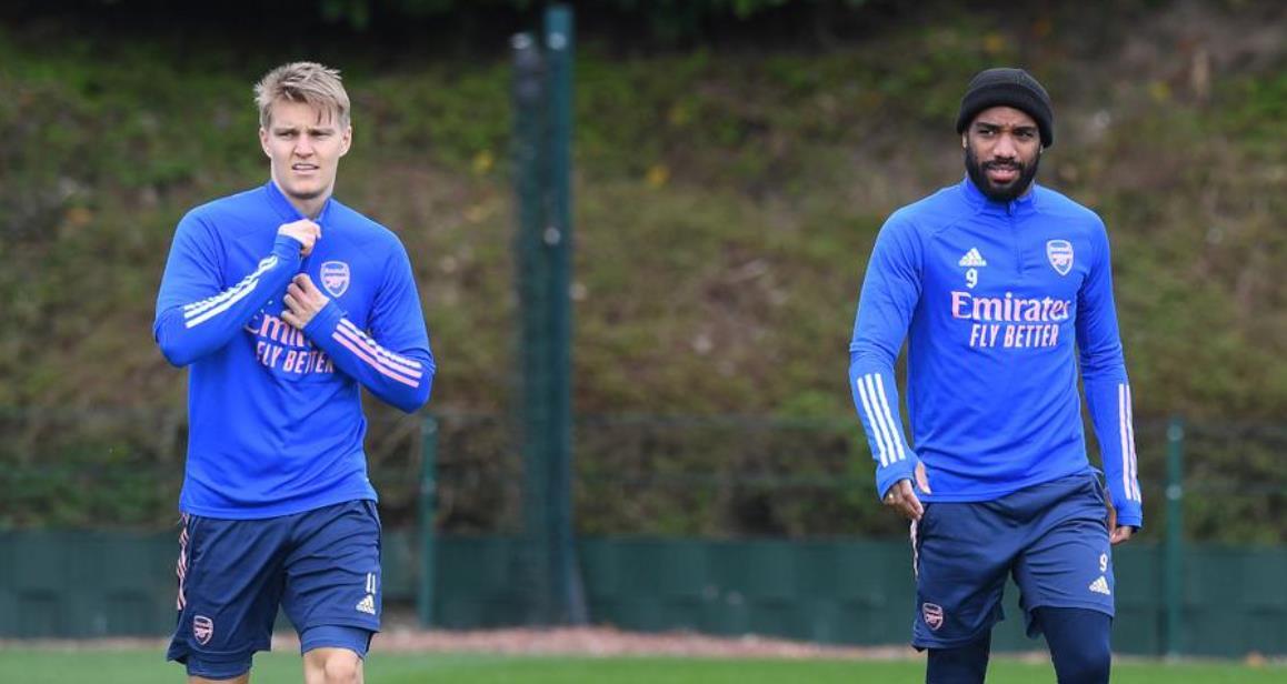 阿森纳表示厄德高无缘联赛杯,拉卡泽特在生病后再次训练
