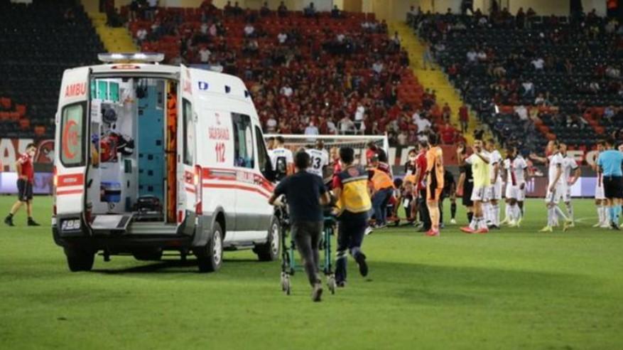 贝西克塔斯后卫在联赛中倒下后正在康复得很好