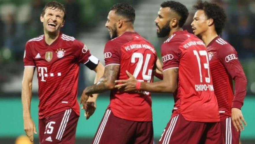 拜仁慕尼黑在德国杯中横扫布雷默