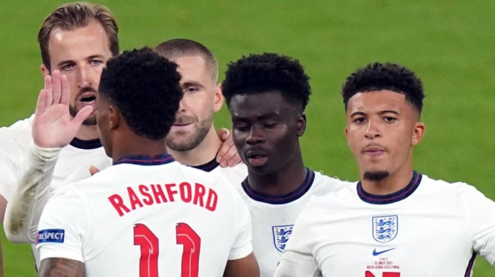 马库斯·拉什福德、贾登·桑乔、布卡约·萨卡:盖雷斯·索斯盖特支持英格兰 2020 年欧洲杯决赛点球三人组