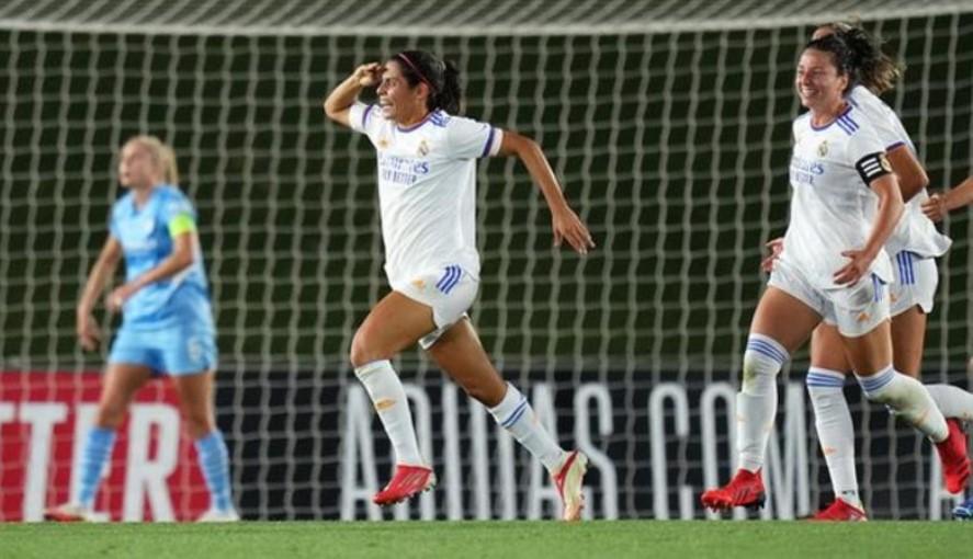 曼城女子队在欧冠联赛预选赛首回合与皇马战平