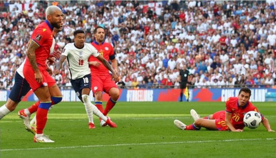 英格兰在世界杯预选赛的百分之百的胜率继续着