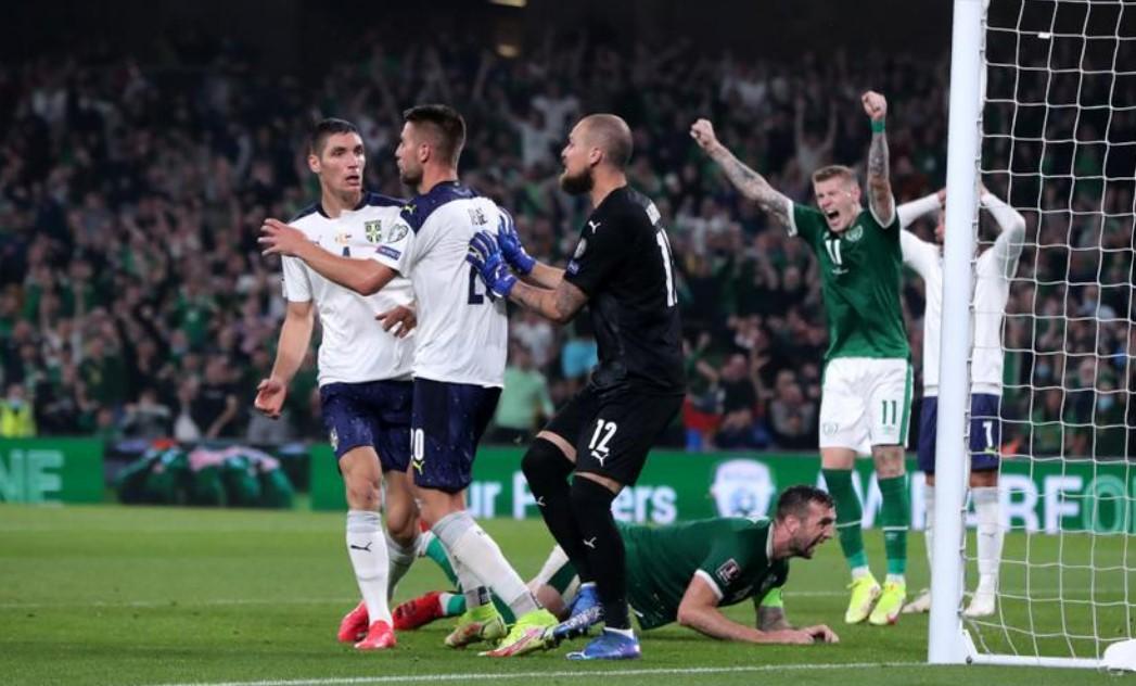 米伦科维奇乌龙球让爱尔兰战平塞尔维亚