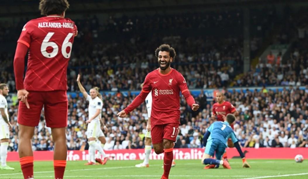 利物浦在利兹联取胜,萨拉赫加盟第100 家俱乐部
