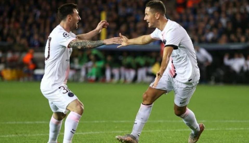 巴黎圣日耳曼无法攻破布鲁日足球俱乐部的防守