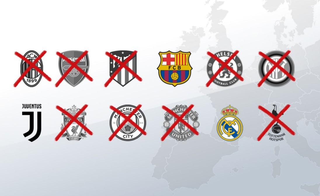 欧足联放弃对巴塞罗那、皇家马德里和尤文图斯的法律诉讼