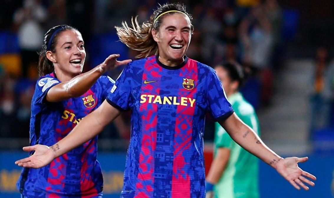 巴塞罗那女子队在女子冠军联赛揭幕战中取得优势