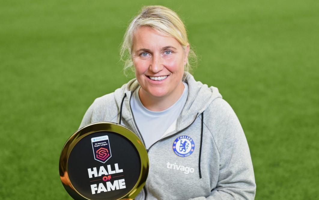 切尔西女足主教练艾玛.海耶斯成为名人堂第四位入选者