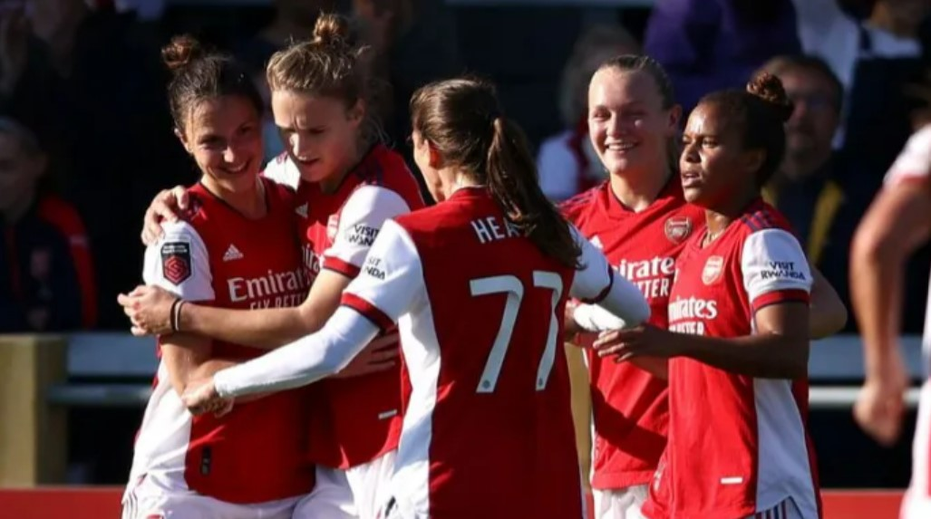 阿森纳女子队仍然保持着本赛季的百分之百胜率