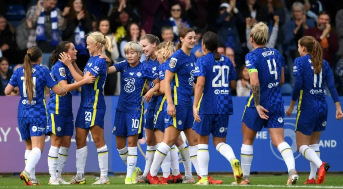 切尔西以两个进球击败了刚晋级到女子超级联赛的莱斯特城