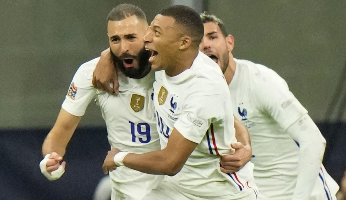 卡里姆.本泽马和姆巴佩射击为法国赢得国家联盟奖杯