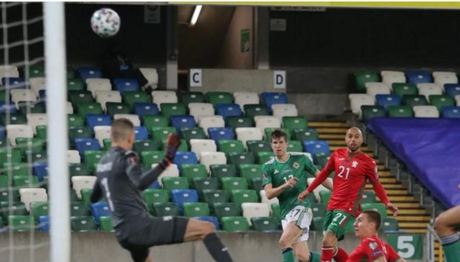 """北爱尔兰主教练伊恩.巴拉克拉夫表示对手保加利亚像是一支受伤的""""动物"""""""