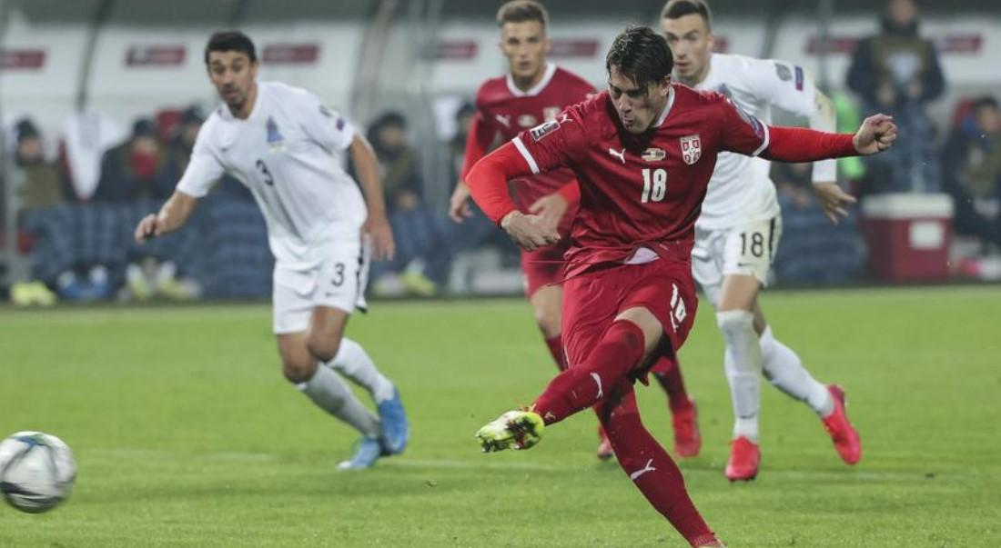 弗拉霍维奇梅开二度帮助塞尔维亚领先葡萄牙