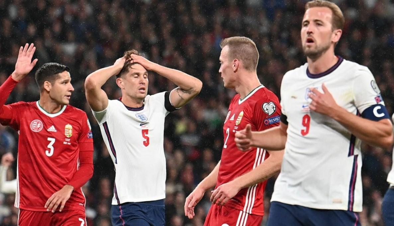 英格兰在温布利球场以 1比1战平匈牙利