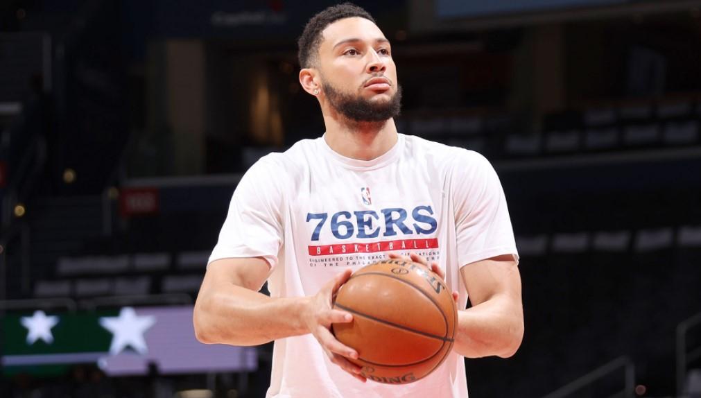 本.西蒙斯是否在NBA季前赛的最后一场比赛上场仍然是未知数